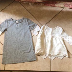Gap dress and shirt